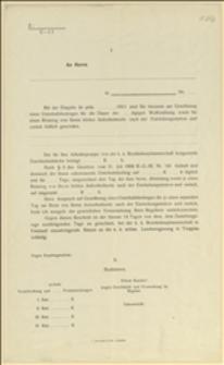 Czyste formularze w sprawie uregulowania zasiłków poborowego na ćwiczenia wojskowe