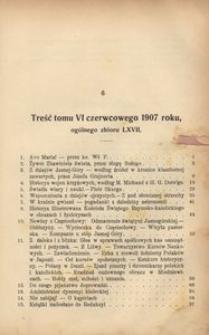 Dzwonek Częstochowski : pismo miesięczne, illustrowane, 1907, [R.7], T.6(67) - czerwiec