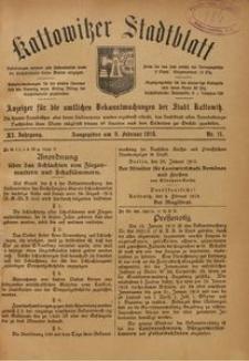 Kattowitzer Stadtblatt, 1918, Jg. 11, nr11