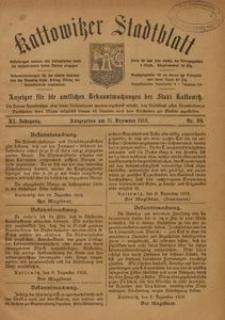 Kattowitzer Stadtblatt, 1918, Jg. 11, nr99