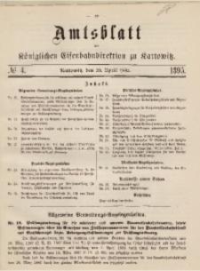 Amtsblatt der Königlichen Eisenbahndirektion zu Kattowitz, 1895, nr4
