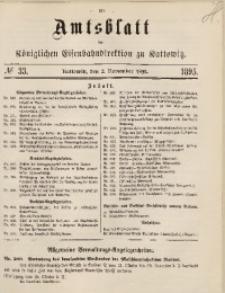 Amtsblatt der Königlichen Eisenbahndirektion zu Kattowitz, 1895, nr33