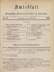 Amtsblatt der Königlichen Eisenbahndirektion zu Kattowitz, 1897, nr22