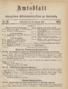 Amtsblatt der Königlichen Eisenbahndirektion zu Kattowitz, 1897, nr37