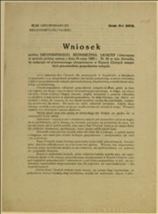 Wniosek posłów Średniawskiego, Bednarczyka, Łaskudy i towarzyszy w sprawie zmiany ustawy z dnia 19.05.1920 r., by wyłączyć od przymusowego ubezpieczenia w Kasach Chorych wszystkich pracowników gospodarstw rolnych - Warszawa, 10.02.1922 r.