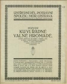 Termin zgromadzenia i bilans spółdzielni w Morawskiej Ostrawie za okres 01.07.1912-30.06.1913 r.
