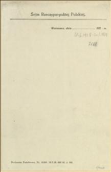 Zawiadomienia o posiedzeniach Sejmowej Komisji Ochrony Pracy w okresie od 21.06.1928 do 20.03.1929 r. z notatkami z posiedzeń