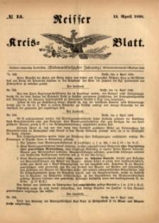 Neisser Kreis-Blatt, 1898, Jg. 57, nr15