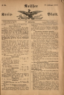Neisser Kreis-Blatt, 1918, Jg. 77, nr8