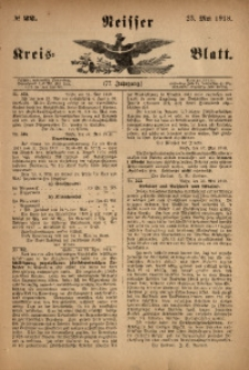Neisser Kreis-Blatt, 1918, Jg. 77, nr22