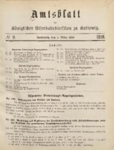 Amtsblatt der Königlichen Eisenbahndirektion zu Kattowitz, 1898, nr9