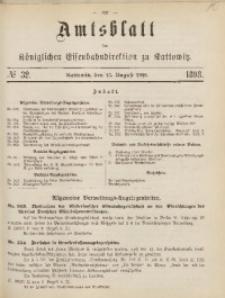 Amtsblatt der Königlichen Eisenbahndirektion zu Kattowitz, 1898, nr32