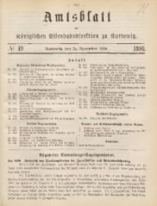 Amtsblatt der Königlichen Eisenbahndirektion zu Kattowitz, 1898, nr49