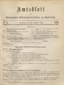 Amtsblatt der Königlichen Eisenbahndirektion zu Kattowitz, 1899, nr4