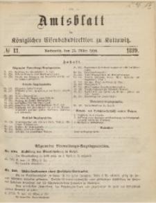 Amtsblatt der Königlichen Eisenbahndirektion zu Kattowitz, 1899, nr13
