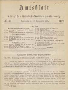 Amtsblatt der Königlichen Eisenbahndirektion zu Kattowitz, 1899, nr48