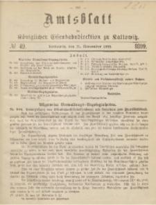 Amtsblatt der Königlichen Eisenbahndirektion zu Kattowitz, 1899, nr49