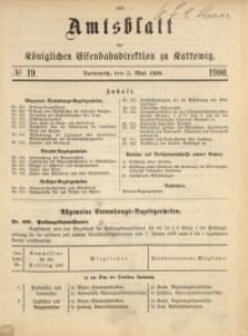 Amtsblatt der Königlichen Eisenbahndirektion zu Kattowitz, 1900, nr19