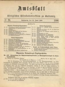 Amtsblatt der Königlichen Eisenbahndirektion zu Kattowitz, 1900, nr26