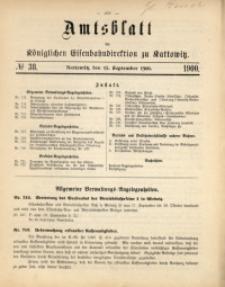 Amtsblatt der Königlichen Eisenbahndirektion zu Kattowitz, 1900, nr38