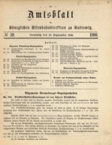 Amtsblatt der Königlichen Eisenbahndirektion zu Kattowitz, 1900, nr39
