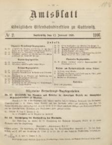 Amtsblatt der Königlichen Eisenbahndirektion zu Kattowitz, 1901, nr2