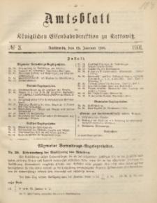 Amtsblatt der Königlichen Eisenbahndirektion zu Kattowitz, 1901, nr3