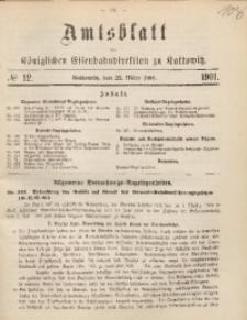 Amtsblatt der Königlichen Eisenbahndirektion zu Kattowitz, 1901, nr12