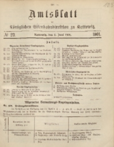 Amtsblatt der Königlichen Eisenbahndirektion zu Kattowitz, 1901, nr23