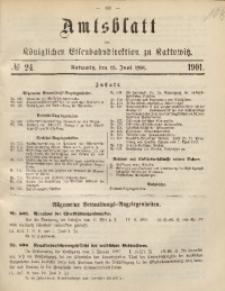 Amtsblatt der Königlichen Eisenbahndirektion zu Kattowitz, 1901, nr24