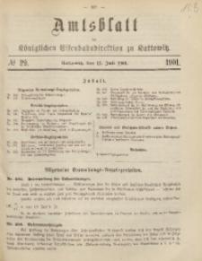 Amtsblatt der Königlichen Eisenbahndirektion zu Kattowitz, 1901, nr29