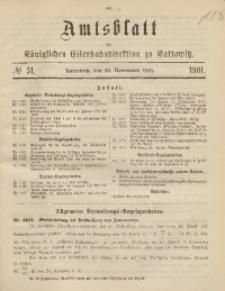 Amtsblatt der Königlichen Eisenbahndirektion zu Kattowitz, 1901, nr51