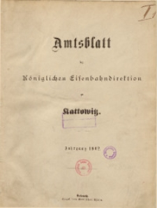 Sach-Register zu dem Amtsblatt der Königlichen Eisenbahndirektion zu Kattowitz, Jahrgang 1902