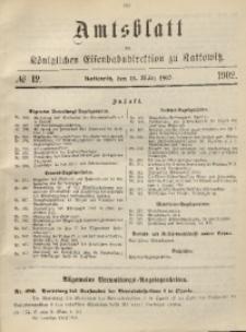 Amtsblatt der Königlichen Eisenbahndirektion zu Kattowitz, 1902, nr12