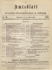 Amtsblatt der Königlichen Eisenbahndirektion zu Kattowitz, 1902, nr18