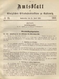 Amtsblatt der Königlichen Eisenbahndirektion zu Kattowitz, 1902, nr28