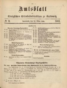 Amtsblatt der Königlichen Eisenbahndirektion zu Kattowitz, 1903, nr11