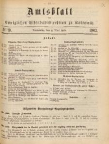 Amtsblatt der Königlichen Eisenbahndirektion zu Kattowitz, 1903, nr19