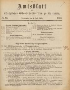 Amtsblatt der Königlichen Eisenbahndirektion zu Kattowitz, 1903, nr28