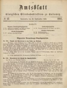 Amtsblatt der Königlichen Eisenbahndirektion zu Kattowitz, 1903, nr37