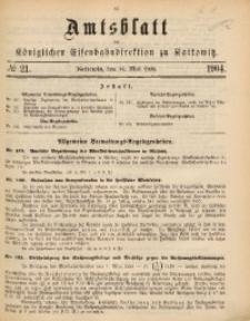 Amtsblatt der Königlichen Eisenbahndirektion zu Kattowitz, 1904, nr21