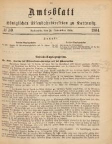 Amtsblatt der Königlichen Eisenbahndirektion zu Kattowitz, 1904, nr50