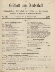 Beiblatt zum Amtsblatt der Königlischen Eisenbahndirektion zu Kattowitz, 1903, nr50a