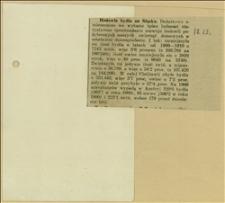 """Wycinek """"Hodowla bydła na Śląsku..."""" z danymi o hodowli bydła na podstawie spisu ludności z 1910 r."""