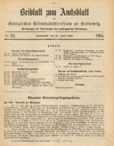 Beiblatt zum Amtsblatt der Königlischen Eisenbahndirektion zu Kattowitz, 1904, nr26