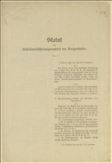 Statut Zakładu Ubezpieczeniowego dla Górników z wzorami formularzy