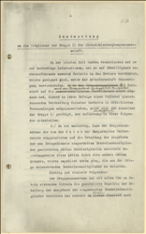 Obwieszczenie Wydziału Grupy II do członków grupy II Stowarzyszenia Górniczego w sprawie ostatnich rozruchów robotniczych - Cieszyn, 11.1916 r.