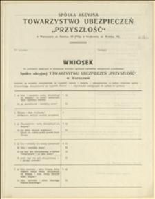 Wniosek na zawarcie ubezpieczenia na wypadek śmierci - formularz i objaśnienia