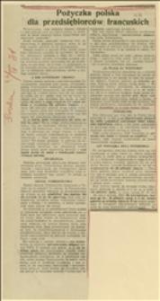 """Wycinek z """"Robotnika"""" o pożyczce kolejowej kapitalistów francuskich"""