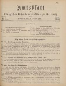 Amtsblatt der Königlichen Eisenbahndirektion zu Kattowitz, 1905, nr34